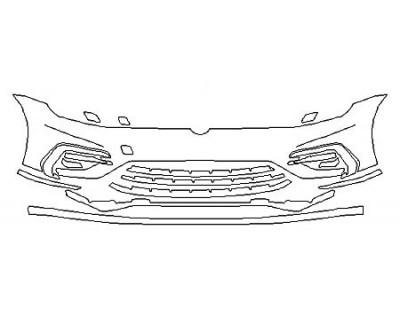 2020 VOLKSWAGEN GOLF 4DR R Bumper