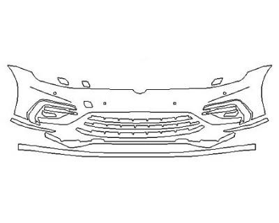 2020 VOLKSWAGEN GOLF 4DR R Bumper With Sensors