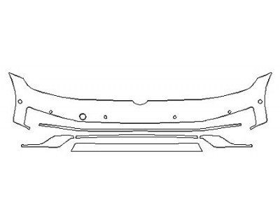 2020 VOLKSWAGEN GOLF ALLTRACK SE Bumper With Sensors (6 Piece)