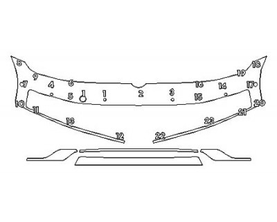 2020 VOLKSWAGEN GOLF ALLTRACK SEL Bumper With Sensors (5 Piece)