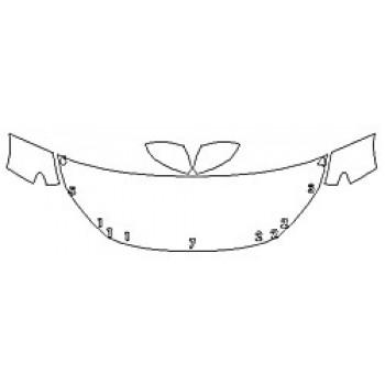 2020 HONDA INSIGHT EX Hood (24 Inch) Fenders Mirrors