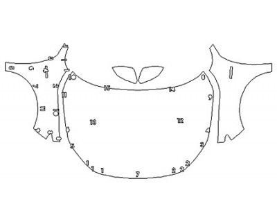 2020 HONDA INSIGHT LX Full Hood Fenders Mirrors