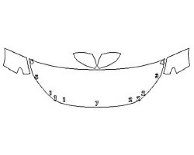 2020 HONDA INSIGHT LX Hood (24 Inch) Fenders Mirrors