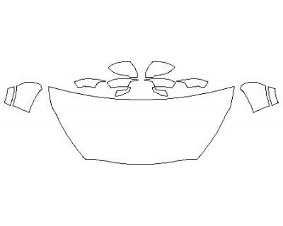 2020 KIA SORENTO SXL Hood (30 Inch) Fenders Mirrors