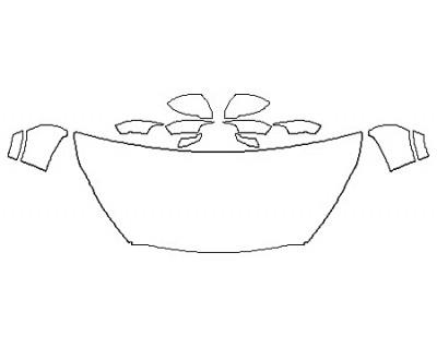 2020 KIA SORENTO SXL Hood (30 Inch Wrapped Edges) Fenders Mirrors