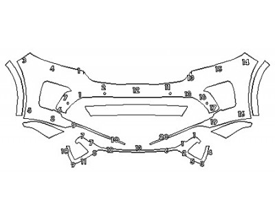 2020 KIA SORENTO SXL Bumper (7 Piece)