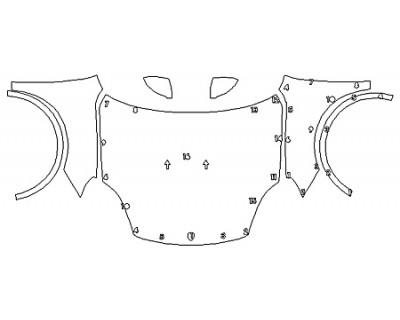 2020 PORSCHE CAYENNE Full Hood Fenders Mirrors
