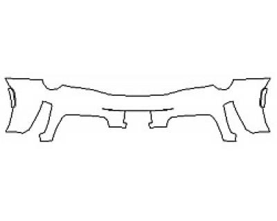 2019 FERRARI 488_PISTA Full Rear Bumper (Wrapped Edges)