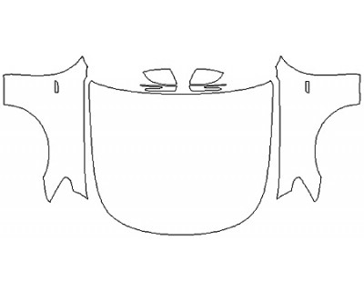 2019 KIA K900 Full Hood Fenders Mirrors