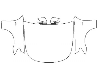 2019 KIA K900 Full Hood (Wrapped Edges) Fenders Mirrors