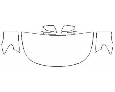 2019 KIA K900 Hood (30 Inch Wrapped Edges) Fenders Mirrors