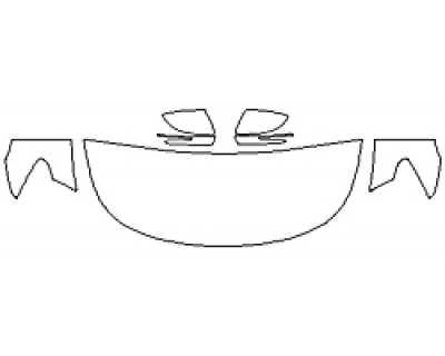 2019 KIA K900 Hood (24 Inch Wrapped Edges) Fenders Mirrors