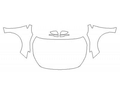 2020 SUBARU IMPREZA 2 Full Hood (Wrapped Edges) Fenders Mirrors