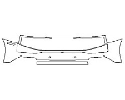 2020 AUDI R8 COUPE V10 PERFORMANCE Full Rear Bumper