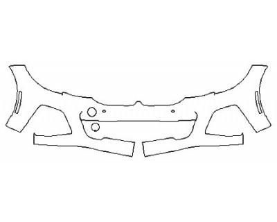 2020 BMW M340I Bumper (Option 2 Wrapped Edges)