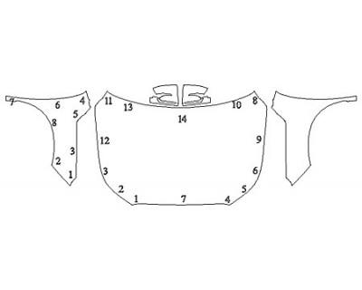 2020 HYUNDAI PALISADE LIMITED Full Hood Fenders Mirrors