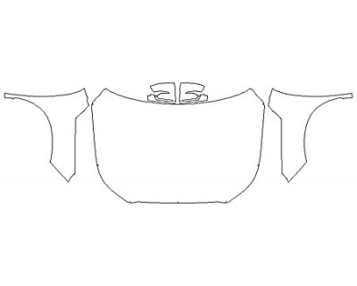 2020 HYUNDAI PALISADE SEL Full Hood (Wrapped Edges) Fenders Mirrors