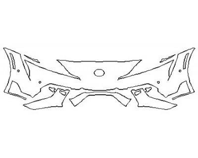 2020 TOYOTA SUPRA PREMIUM Bumper (Wrapped Edges)