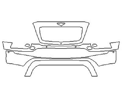 2019 BENTLEY BENTAYGA BASE Bumper With Washers And Sensors