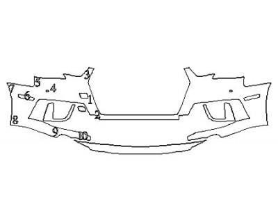 2019 AUDI S4 BASE Bumper With Sensors