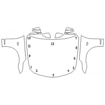 2019 CADILLAC CT6 LUXURY Full Hood Fenders Mirrors