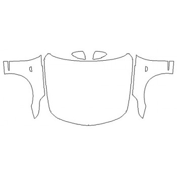 2019 CADILLAC CT6 LUXURY Full Hood (Wrapped Edges) Fenders Mirrors