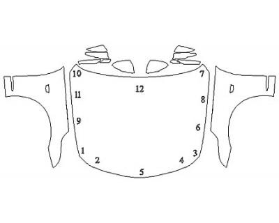 2019 CADILLAC CT6 PLATINUM Full Hood Fenders Mirrors