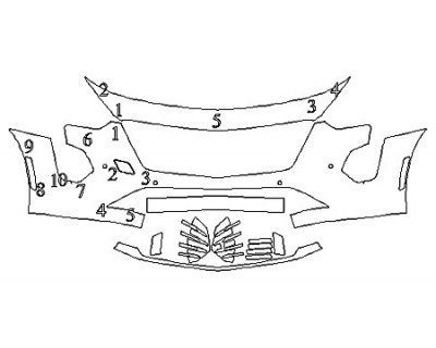 2020 CADILLAC CT6 PLATINUM Bumper With Sensors
