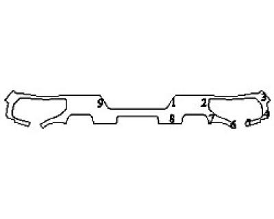 2020 CHEVROLET SILVERADO 1500 CUSTOM TRAILBOSS Full Rear Bumper