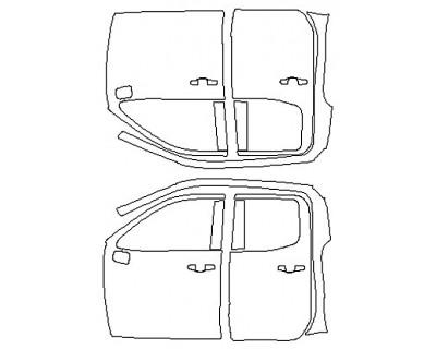 2020 CHEVROLET SILVERADO 1500 CUSTOM TRAILBOSS Full Doors (Double Cab Wrapped Edges)