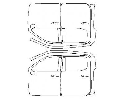 2020 CHEVROLET SILVERADO 1500 CUSTOM TRAILBOSS Full Doors (Crew Cab Wrapped Edges)