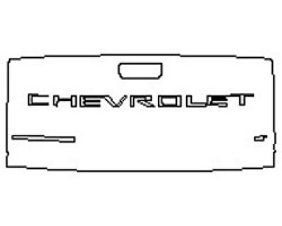 2020 CHEVROLET SILVERADO 1500 CUSTOM TRAILBOSS Tailgate (Wrapped Edges)