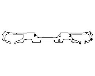 2020 CHEVROLET SILVERADO 1500 LT Full Rear Bumper