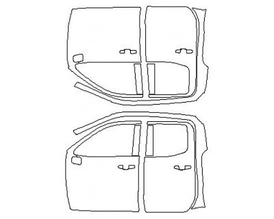 2020 CHEVROLET SILVERADO 1500 LT Full Doors (Double Cab Wrapped Edges)