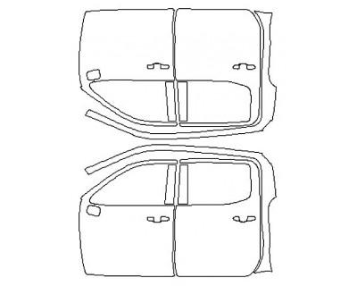 2020 CHEVROLET SILVERADO 1500 LT Full Doors (Crew Cab Wrapped Edges)
