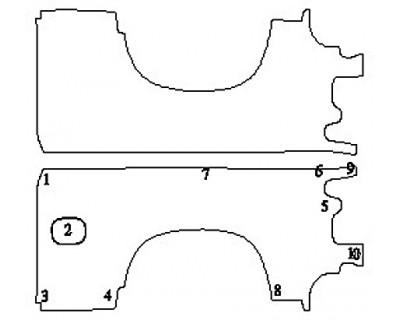 2020 CHEVROLET SILVERADO 1500 LT Full Rear Quarters (Stand Box)