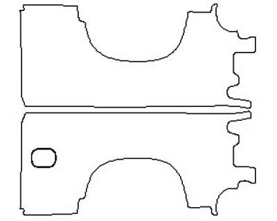 2020 CHEVROLET SILVERADO 1500 LT Full Rear Quarters (Wrapped Edges Stand Box)