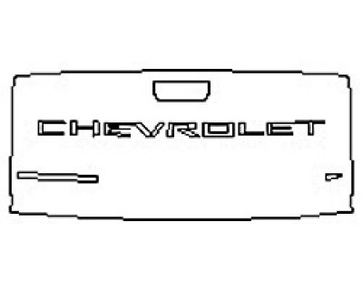 2020 CHEVROLET SILVERADO 1500 LT Tailgate (Wrapped Edges)