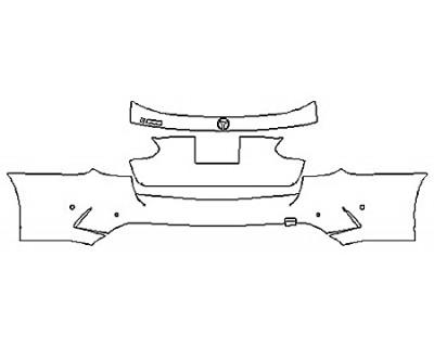 2019 MERCEDES C-CLASS C300 WAGON SPORT Full Rear Bumper (Wrapped Edges)