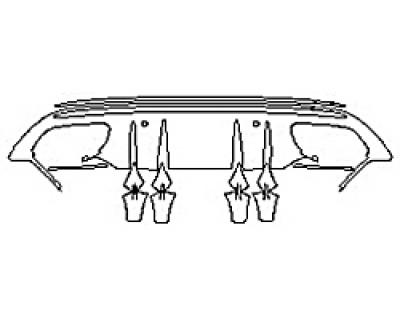 2019 MERCEDES C-CLASS C300 WAGON SPORT Full Rear Diffuser