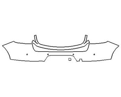 2019 PORSCHE MACAN BASE Full Rear Bumper (Wrapped Edges)