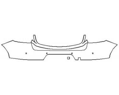 2019 PORSCHE MACAN S Full Rear Bumper (Wrapped Edges)