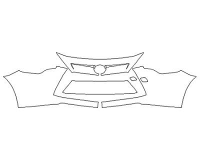 2020 TOYOTA YARIS XLE Bumper