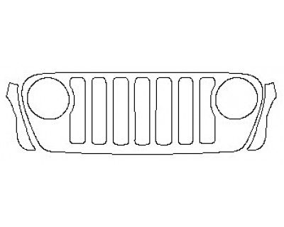 2019 JEEP WRANGLER UNLIMITED MOAB Grille