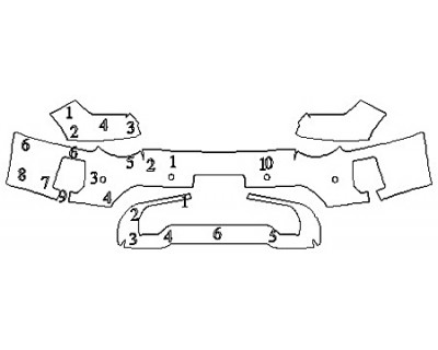 2020 GMC SIERRA 2500 AT4 Bumper With Sensors (With License)