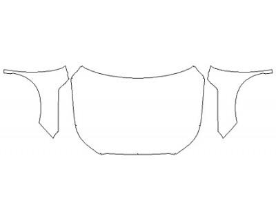 2020 HYUNDAI PALISADE SE Full Hood (Wrapped Edges) Fenders Mirrors