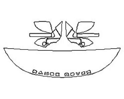 2020 LAND ROVER RANGE ROVER EVOQUE R-DYNAMIC Hood (18 Inch) Fenders Mirrors)