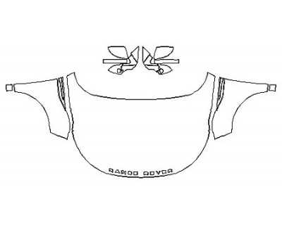 2020 LAND ROVER RANGE ROVER EVOQUE S Full Hood (Wrapped Edges) Fenders Mirrors