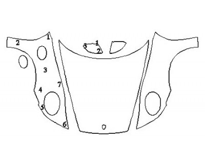 2020 PORSCHE 911 CARRERA 4 CABRIOLET BASE Full Hood Fenders Mirrors