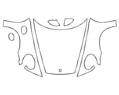 2020 PORSCHE 911 CARRERA 4 CABRIOLET BASE Full Hood Split Fenders Mirrors